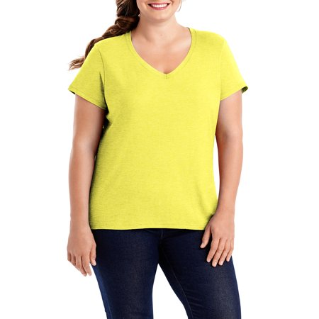 Women's Plus-Size X-temp Short Sleeve V-neck - Plus Size Corsette