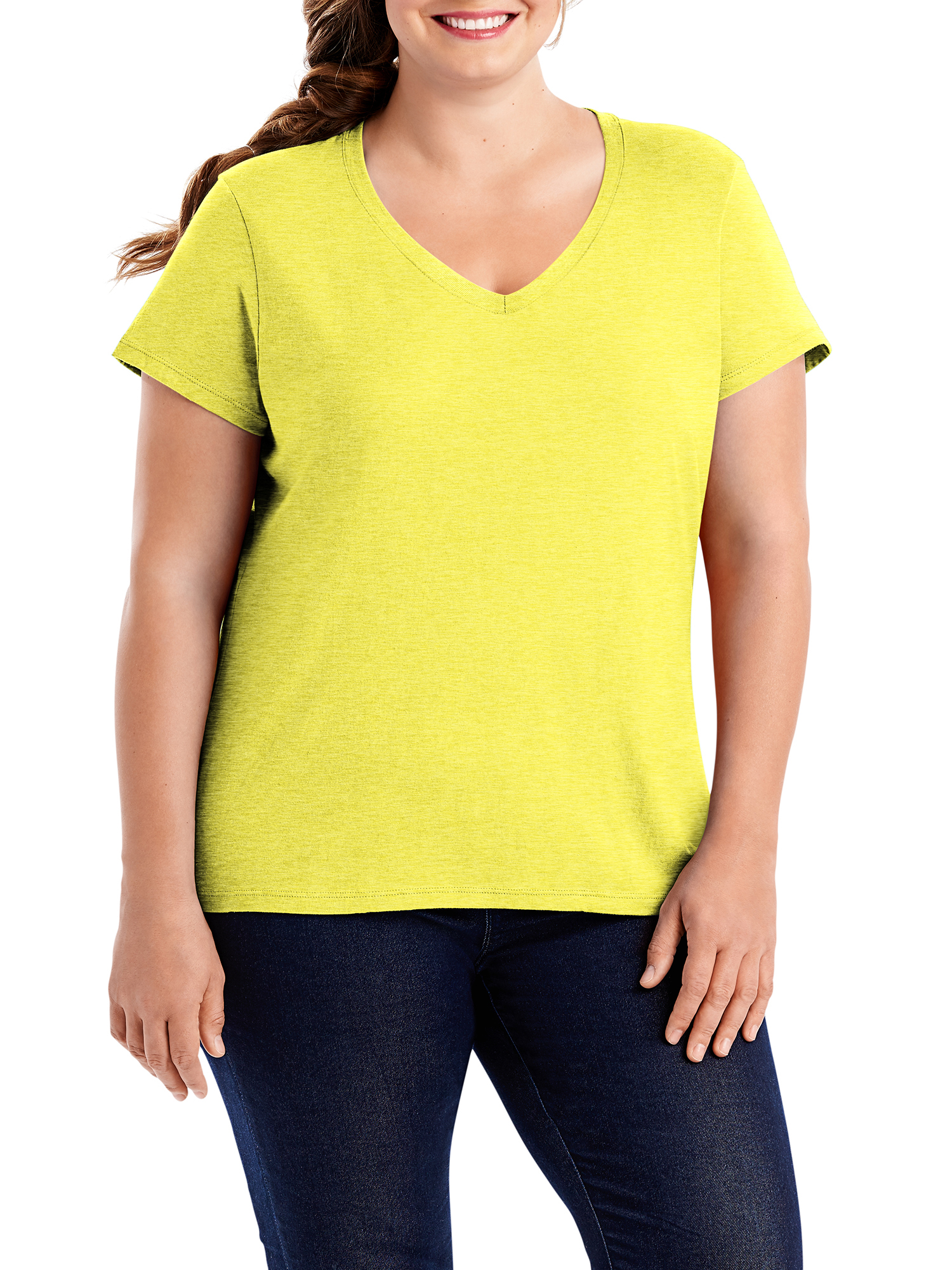 Women's Plus-Size X-temp Short Sleeve V-neck