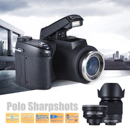 Polo Sharpshots Auto Focus AF 33MP 1080P 30fps FHD 8X Zoomable Digital Camera w/ Standard