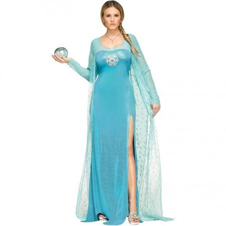 Disney World Halloween Events (Adult size Ice Queen - Blue Frozen Costume Regular or Plus - 4)