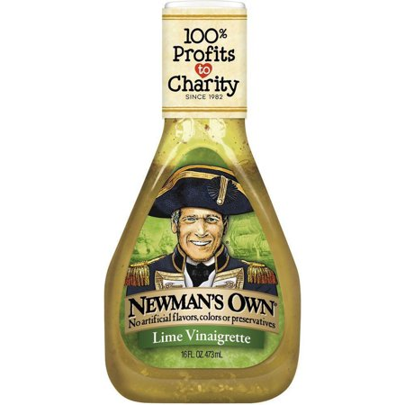 Newmans Own Lime Vinaigrette, 16 OZ (Pack of 6) (Lime Dressing)