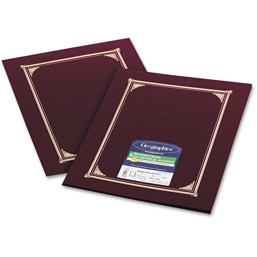 Geographics Certificate/Document Cover, 12-1/2 x 9-3/4, 6/Pack