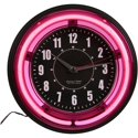 "Sterling and Noble 11"" Vibrant Pink Neon Wall Clock"