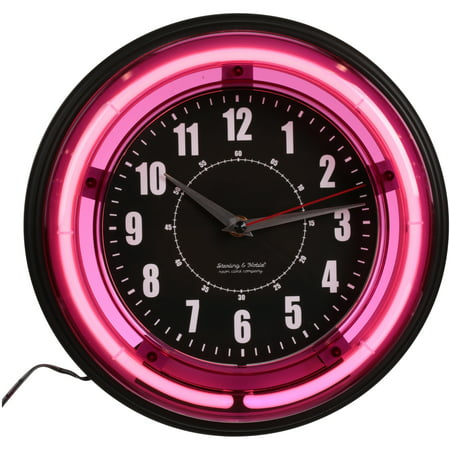 Sterling And Noble 11 Quot Vibrant Pink Neon Wall Clock