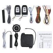 ESYNIC 9pcs Car Safety Alarm Start System Smart Keyless Entry Ignition Push Button Starter