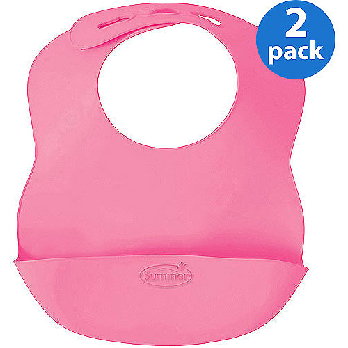 Summer Infant - 2-Pack Bibbity Rinse and Roll Bibs