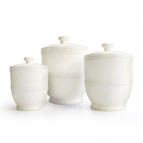 Jay Import Bianca Bead 3-piece Canister Set