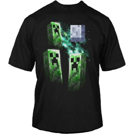 Minecraft Three Creeper Moon Youth T-Shirt