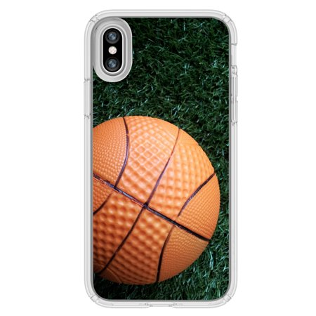 Image Of Basketball On Grass Background Apple Iphone X Plus Phone Case