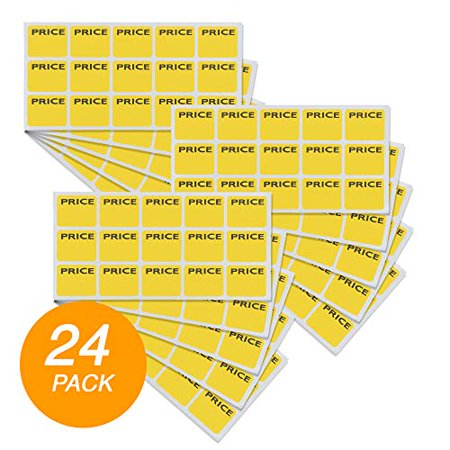 Emraw Super Great Yellow Price Mark Label Stickers - Great for School, Home & Office – 180 Labels Per Pack -
