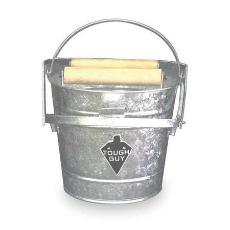 Tough Guy 2MPE1 Silver Galvanized Steel 12 qt. Mop Bucket and Wringer