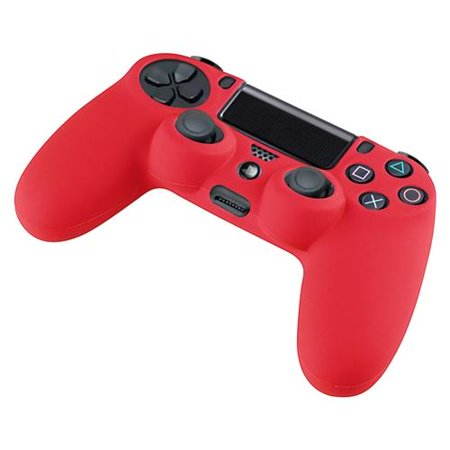 Insten Red Silicone Skin Case For Sony PS4 Remote Controller