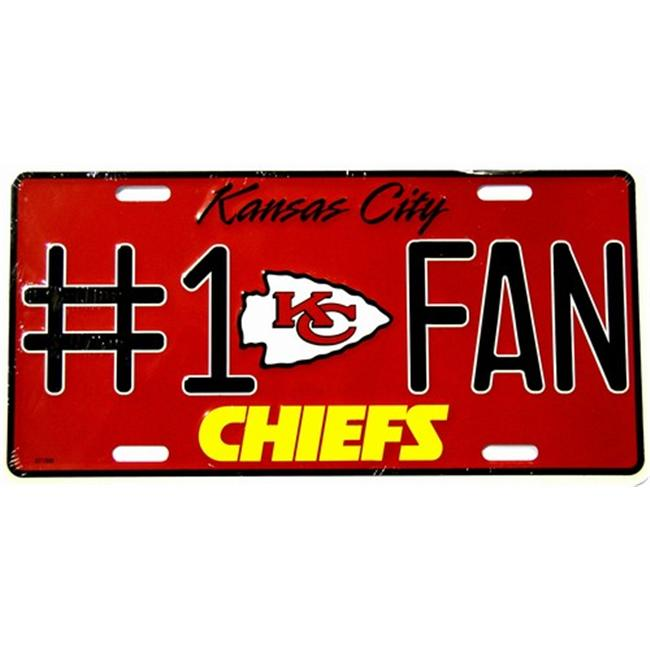 LP - 742 Chiefs No. 1 Fan License Plate - 2710M
