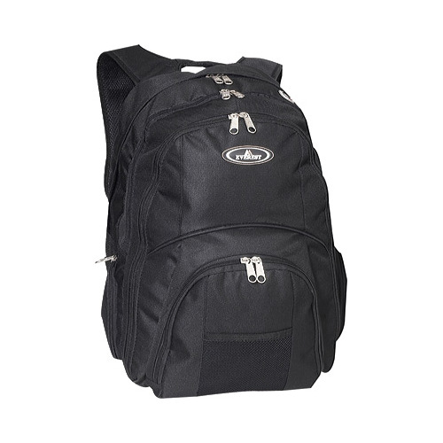 Everest Laptop Compartment Backpack 7045LT Black OSFA