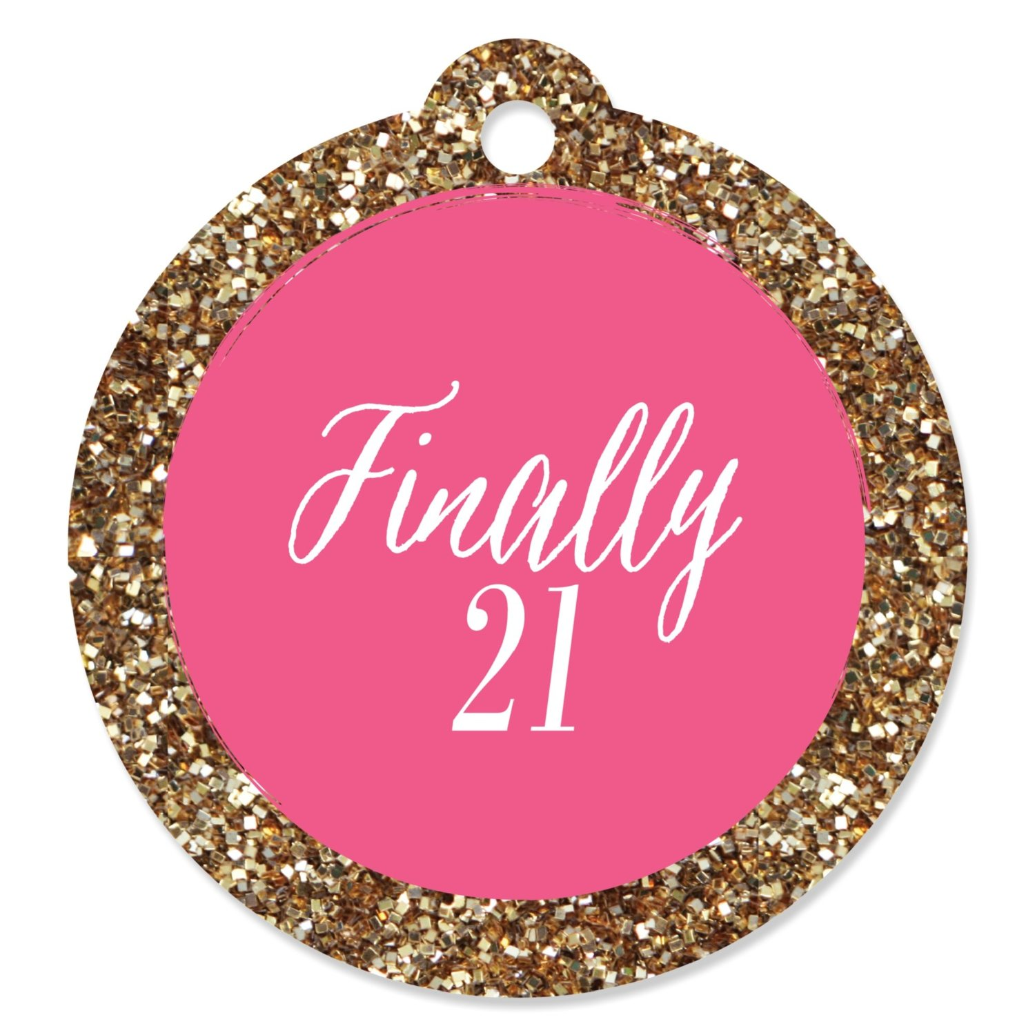 Finally 21 Girl - 21st Birthday - Party Favor Tags (Set of 20)