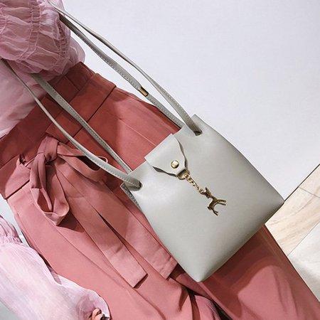 DeerWomen Handbag Solid Color Shoulder Bag Storage Bag with Adjustable Strap - image 8 de 8