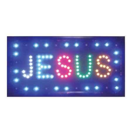 Led Light Up Sign Jesus (Other)