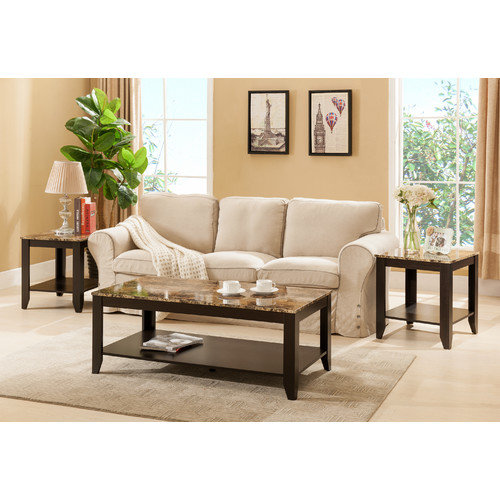 Hokku Designs Konstanz 3 Piece Coffee Table Set
