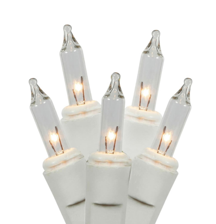 Set of 50 Clear Mini Twinkle Christmas Lights - White Wire - Walmart.com