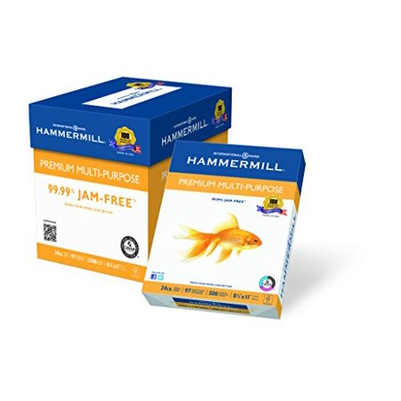 Hammermill Paper, Premium Multi-Purpose Poly Wrap, 24 lb, 8.5 x 11, Letter,  97 Bright, 2500 Sheets / 5 Ream Case (105810C) Made In The