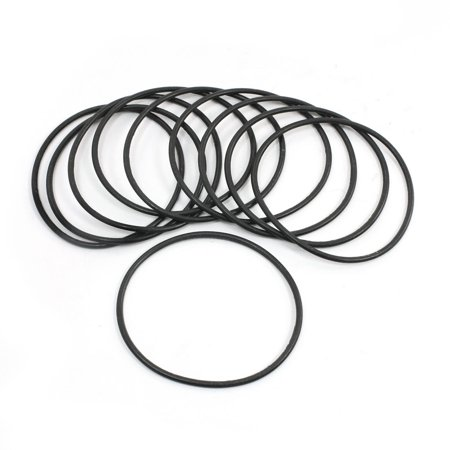 Unique Bargains 76.3mm OD 2.65mm Thickness Flexible Rubber Oil Seal O Rings Black 10 Pcs - image 1 of 1