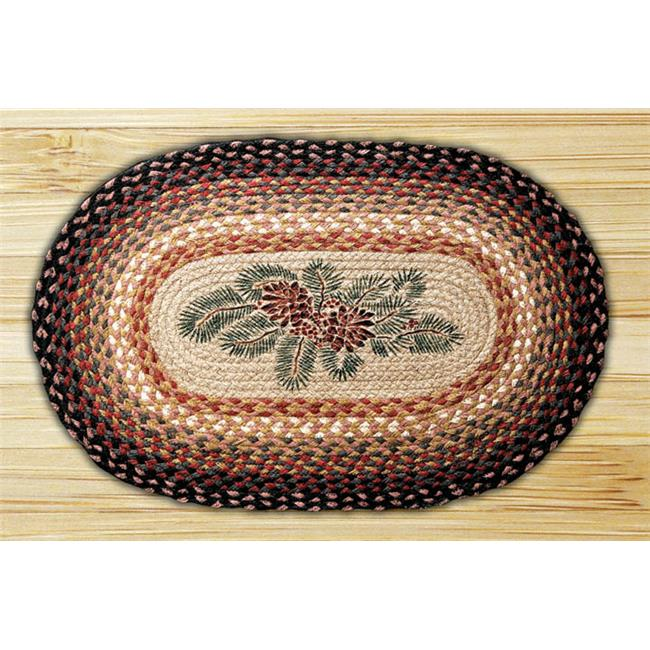 Capitol Importing 65-083PRB Pinecone Red Berry - 20 inch x 30 inch Oval Patch