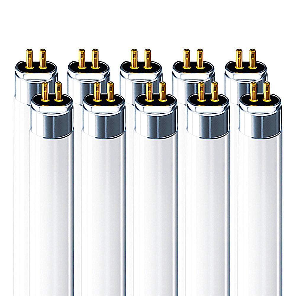Luxrite F14T5/835 14W 22 Inch T5 Fluorescent Tube Light Bulb, 3500K Natural White, 60W Equivalent, 1140 Lumens, G5 Mini Bi-Pin Base, LR20857, 10-Pack