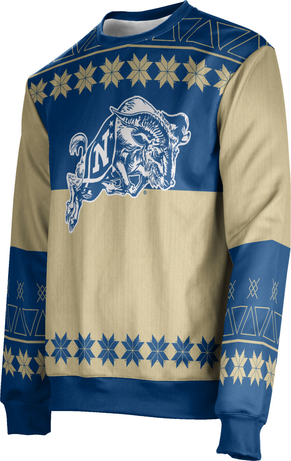 Apparel Men/'s United States Naval Academy Ugly Holiday Wrapping Paper Sweater