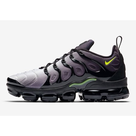 430cf3797fa Nike - Mens Nike Air VaporMax Plus Volt Black White 924453-009 - Walmart.com