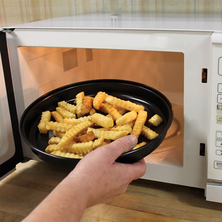 Micro Crisper Pan - Makes Crispy Pizza, French Fries & More In The