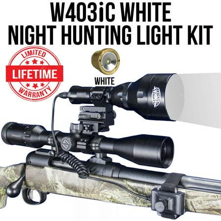 Wicked Lights W403iC White LED Night Hunting Light Kit
