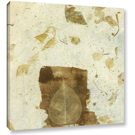 Artwall Elena Ray   Wabi Sabi Bodhi Leaf Collage 1   Gallery Wrapped Canvas