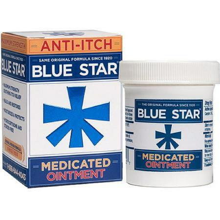 Blue Star - Itch Relief - 1.24% Strength - Ointment - 2 oz. - Jar Itch Relief Ointment