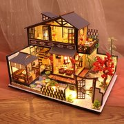 Creative gift diy cabin wood craft arts building model toy birthday gift Valentine's gift P002 forest-dwelling Valley Habitat
