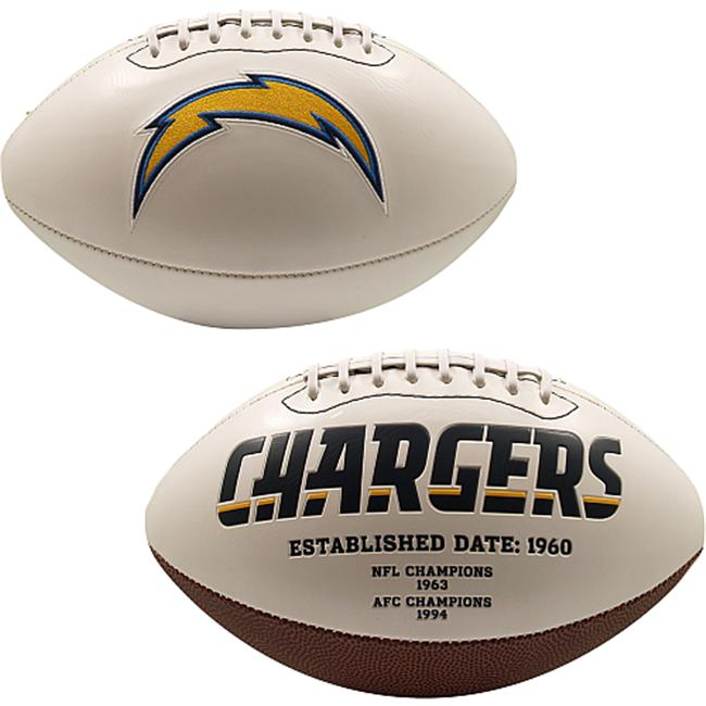 Creative Sports FB-CHARGERS-Signature San Diego Chargers Embroidered Logo Signature Series Football