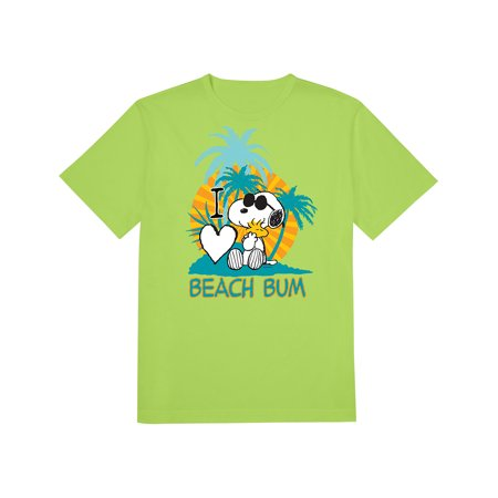Snoopy Woodstock Beach Bum T-Shirt, Peanuts Officially Licensed](Peanuts Woodstock)