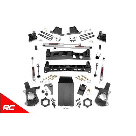 Rough Country Lift Kit compatible w/ 1999-2006 Chevy Silverado GMC Sierra 1500 Suspension Systems (09 Gmc Sierra 1500 Lift Kit)