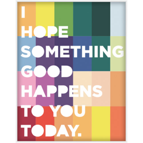 "9 by Novogratz ""I Hope Something Good"" Wall Artwork, 14.5"" x 18.5"" by Pro Tour Memorabilia, LLC"