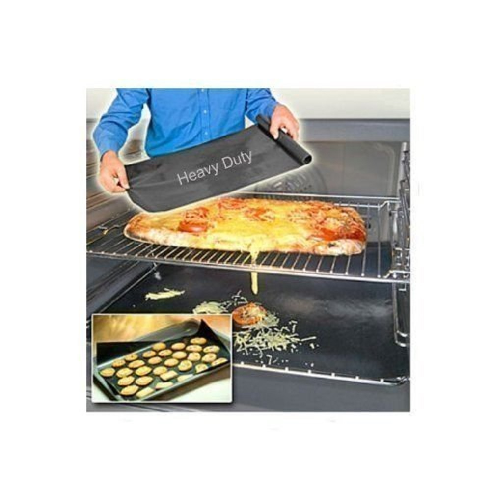 Non-Stick Oven Liner Reusable Spill Mat Teflon Baking Aide Dishwasher Safe x2