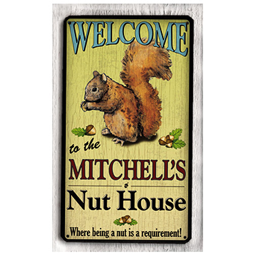 Personalized Metal Sign, Nut House