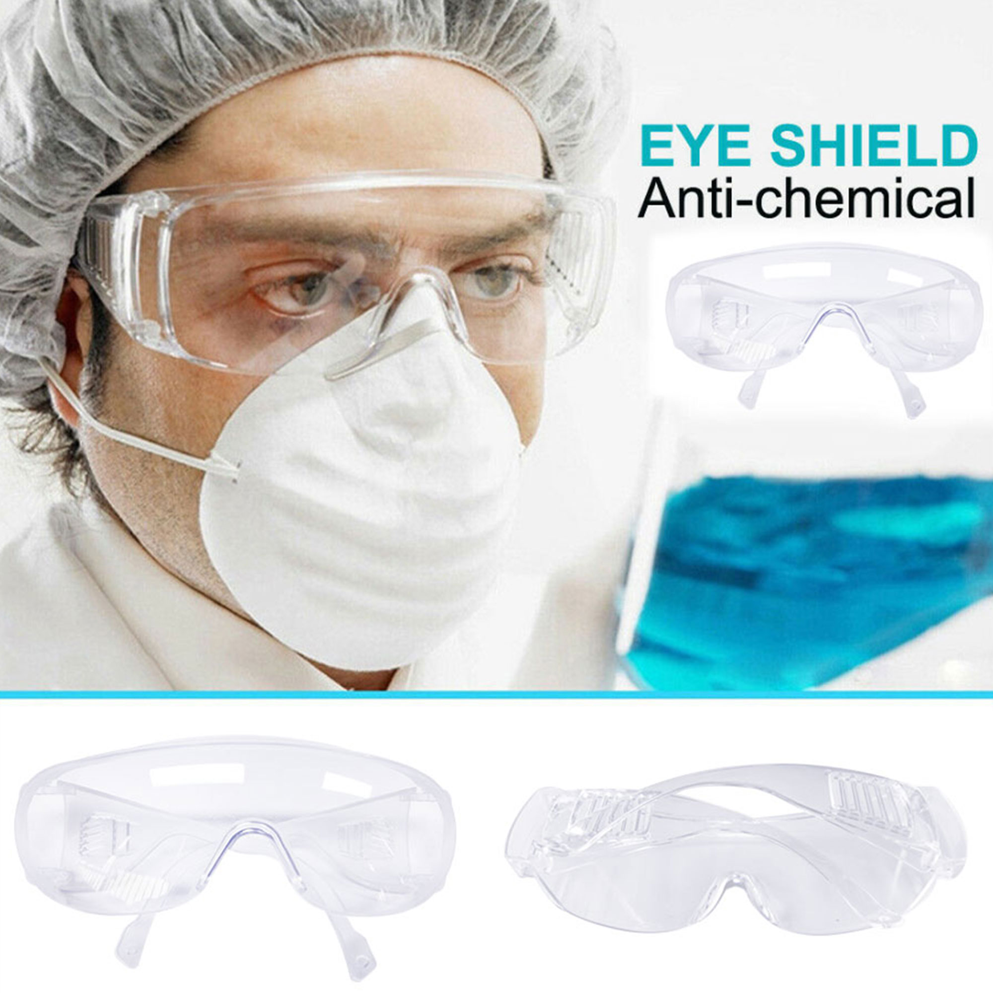 Anti-Virus Glasses Eyes Protection For Work Safety Goggles Anti Dust Clear Lens