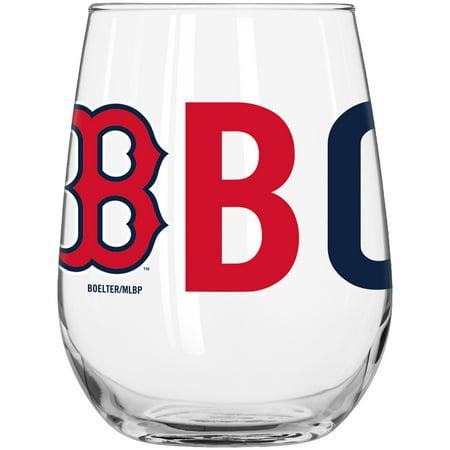 Boston Red Sox 16oz Mlb/red Sox Ovrtm Crv Bv Pdqx6 Boston Red Sox Glass