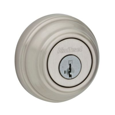 Kwikset 985 Double Cylinder Deadbolt featuring SmartKey®, Satin Nickel, 99850-058