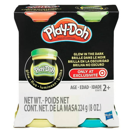 Play-Doh Set For Kids - Glow In The Dark 4 - Cool Glow In The Dark Stuff