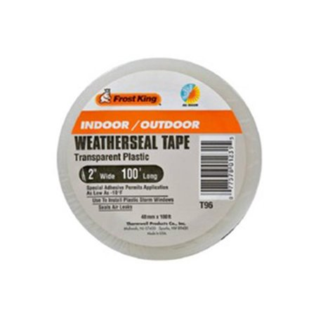 Frost King T96H Plastic Weatherseal Tape In Outdoor 2in Wide x 100ft L