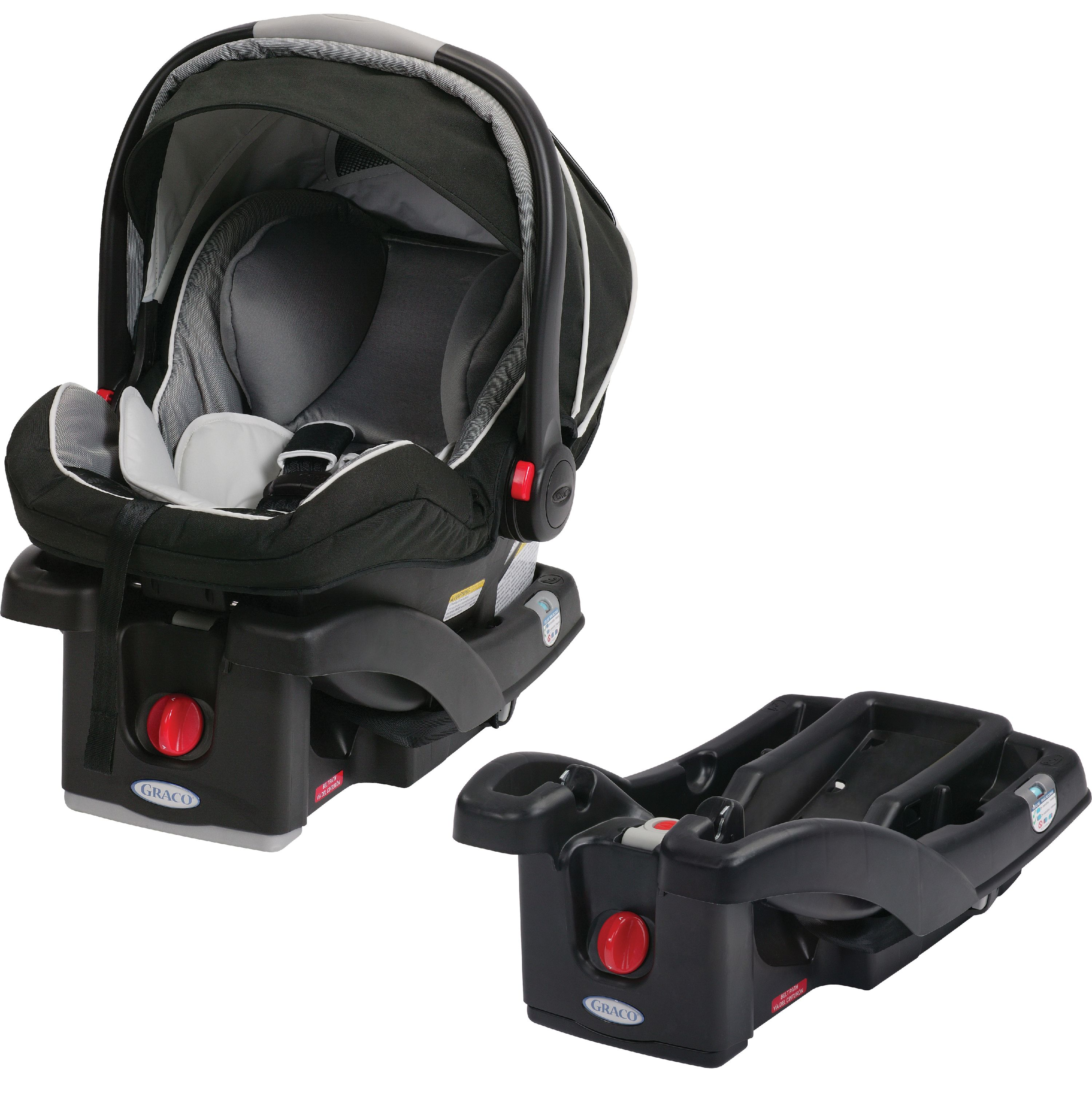 Graco SnugRide Click Connect 35 LX Infant Car Seat, Choose Your Color, AND SnugRider Stroller Frame
