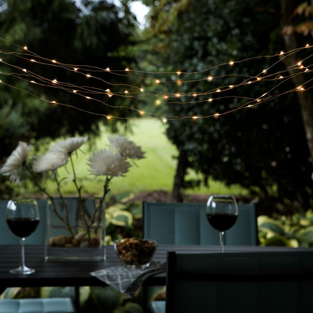 Solar Outdoor Integrated Led Copper String Light Set With Panel