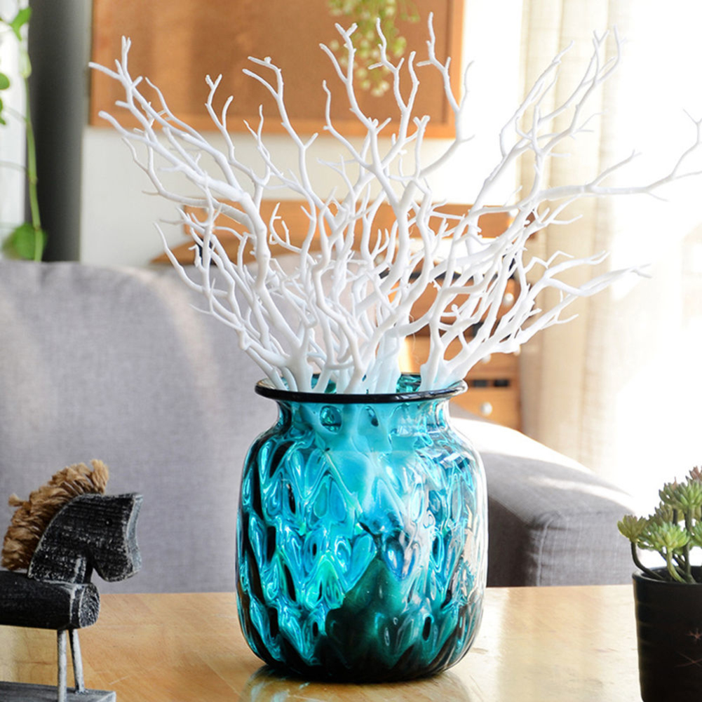 HiCoup Small Dried Tree Artificial Branch Plant DIY Craft Wedding Party Home Decor