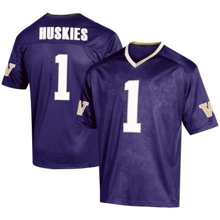 Men's Russell #1 Purple Washington Huskies Fashion Football Jersey