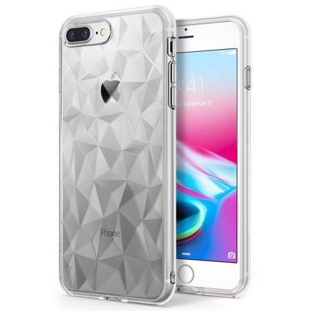 - Apple iPhone 7 Plus / iPhone 8 Plus Phone Case, Ringke [AIR PRISM] 3D Contemporary Design Slim Geometric Stylish Pattern Flexible Protective TPU Drop Resistant Cover - Clear